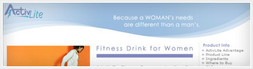 Web Design - Woman's Sport Drink